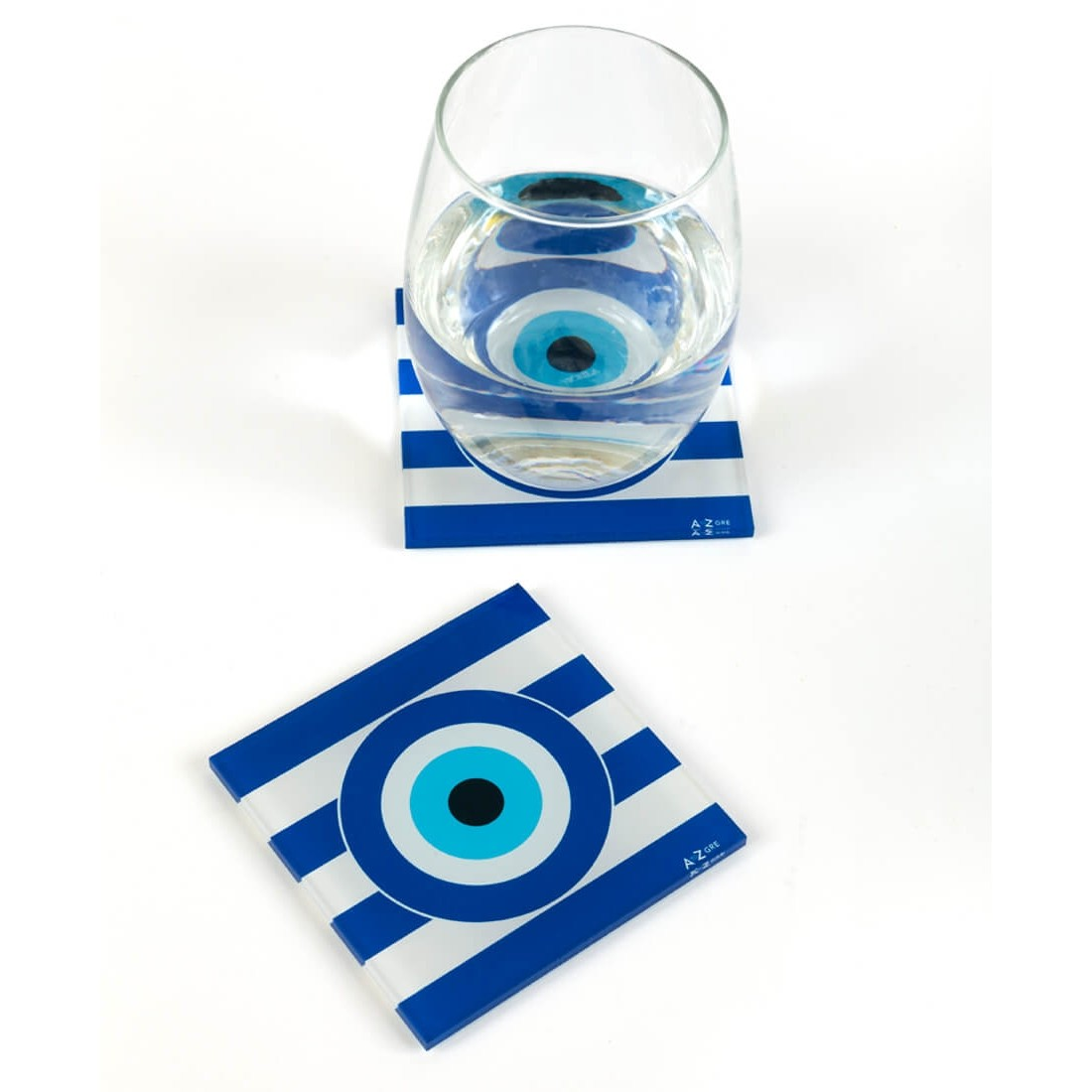 EVIL EYE COASTERS (SET OF TWO)