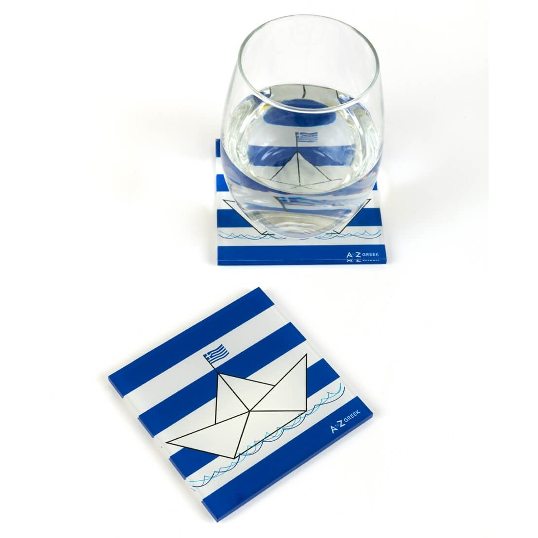 LITTLE PAPER BOAT COASTERS (SET OF TWO)