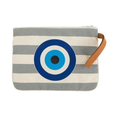 EVIL EYE CLUTCH GREY