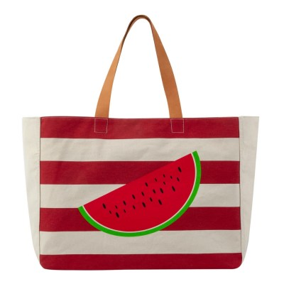 WATERMELON BEACH BAG RED