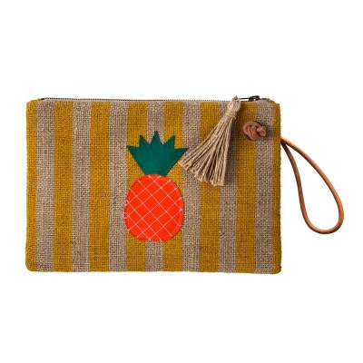 PINNEAPPLE BURLAP CLUTCH
