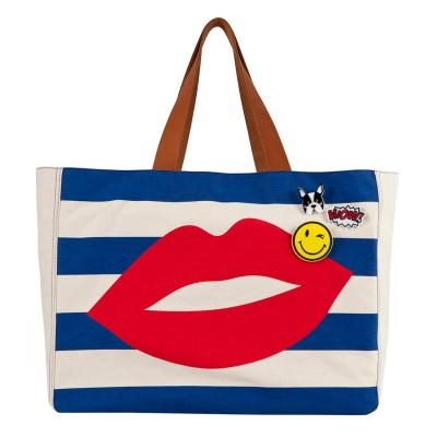 RED LIPS BEACH BAG