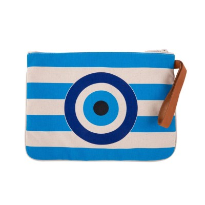 EVIL EYE CLUTCH TURQUOISE