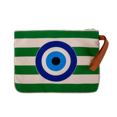 EVIL EYE CLUTCH GREEN