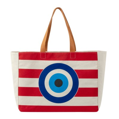 EVIL EYE BEACH BAG RED