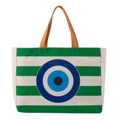 EVIL EYE BEACH BAG GREEN