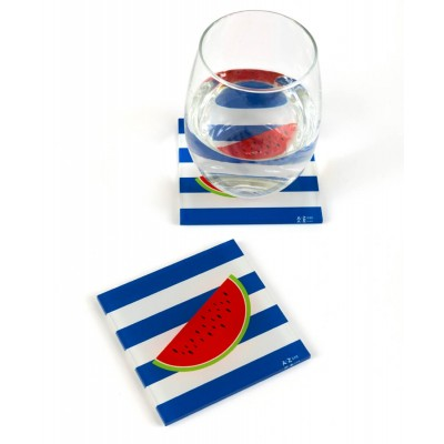WATERMELON COASTERS (SET OF TWO)
